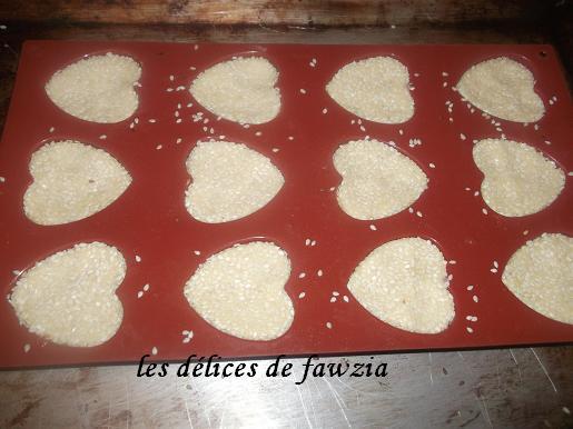 Coeurs aux grains de s same les d lices de fawzia for Comment enlever du silicone sec