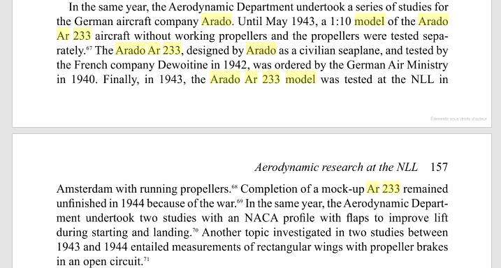 Arado AR.233 - recherche d'informations / images Texte-3b2ee95